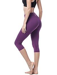 Women's Yoga Pants Leggings Plus Size High Waist Tummy Control Workout Running Tights w Hidden Pocket L02