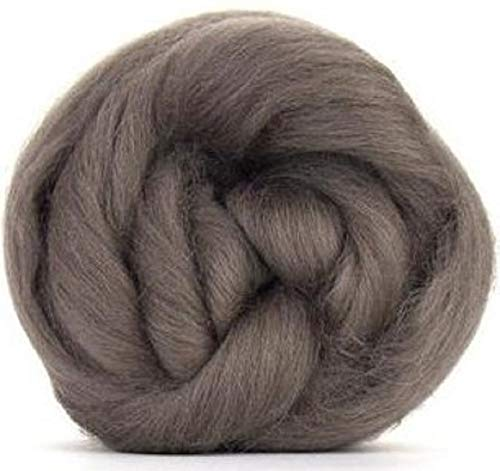 (4 oz Paradise Fibers Pewter (Gray) Corriedale Top Spinning Fiber Luxuriously Soft Wool Top Roving for Spinning with Spindle or Wheel, Felting, Blending and Weaving)
