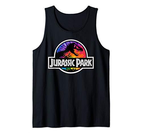 Jurassic Park Tie Dye Fill Classic Logo  Tank Top