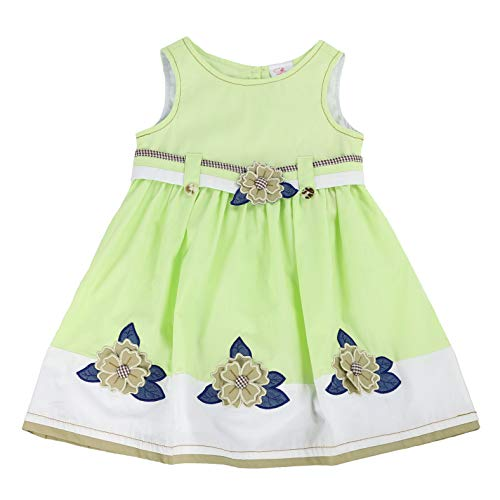 THE SILLY SISSY - Girls and Toddlers Everyday Fav Dress | Beatrice Barne's Blossoms in Lime Cake Green 5