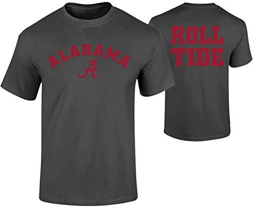 Elite Fan Shop Alabama Crimson Tide Tshirt Heather Gray - X-Large - Charcoal