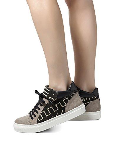 Signore Howsty Salima Alta Sneaker Grigio (grigio 02)
