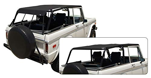 RAMPAGE PRODUCTS 98235 Full Length Safari Island Topper for 1966-1977 Ford Bronco, Black Diamond