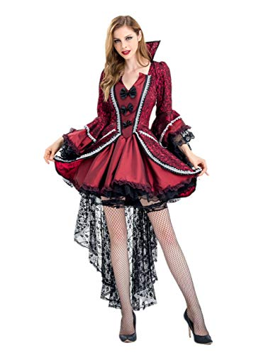 Crubelon Costumes Women's Midnight Vampiress Costume (L) Red -
