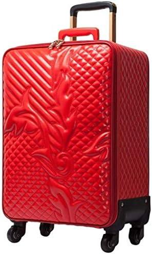 TONGSH Trolley Case Universal-Rad-große Kapazitäts-PU-Leder-Material mit erweiterbaren Zugstange 20 Zoll Handgepäck-Kasten (Color : Red)