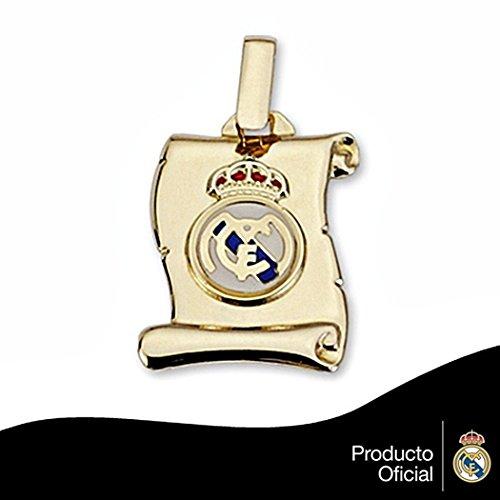 Real Madrid Droit parchemin bouclier or 18k petit émail [6447] - Modèle: 30-041