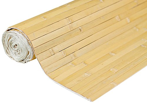 FOREVER BAMBOO Bamboo Wall Paneling Raw, 4' H x 8' L, Nat...