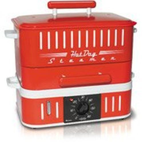 CUIZEN ST1412 RED HOTDOG STEAMER WITH TIMER PATENTED STEAMING