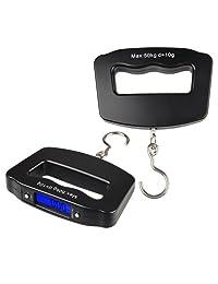 Everydaysource Black 10g-50kg Digital Hanging Luggage LED Fishing Weight Scale