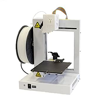 "UP! Plus 2 Fully Assembled 3D Printer, 5.3"" x 5.5"" x 5.5"" Maximum Build Dimensions, 0.15-mm Maximum Resolution, 1.75-mm ABS, PLA, White"