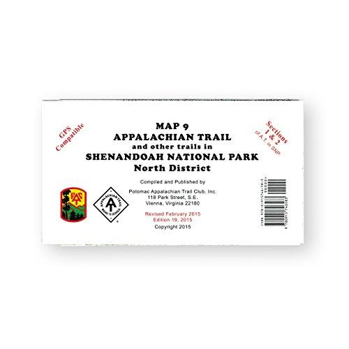 Official Shenandoah National Park, Virginia, Appalachian Trail Map (North District)