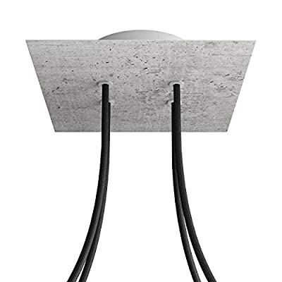 4 Holes - Large Square Ceiling Canopy Kit - Rose One System - Concrete