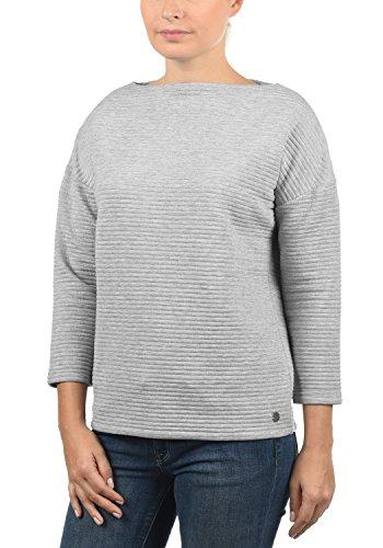 DESIRES Jona Damen Sweatshirt Pullover Sweater mit U-Boot-Ausschnitt und 7/8 Arm
