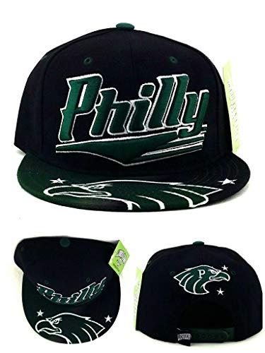 Legend of the Game Philadelphia Leader Eagles Colors Philly Black Green Era Snapback Hat Cap