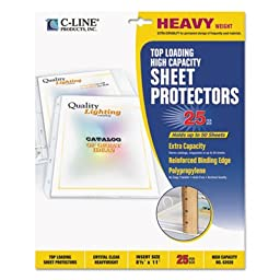 High Capacity Polypropylene Sheet Protectors, Clear, 50\