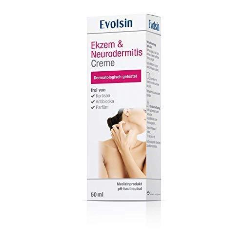 Crème Evolsin pour l'Eczéma et la Dermatite atopique, Lotion, Pommade pour peaux sèches, démangeaisons et peaux irritées I elle guérit la peau et soulage les démangeaisons I SANS CORTISONE