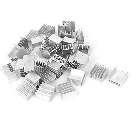 eDealMax 25mmx24mmx15mm 40pcs del disipador de calor de aluminio del disipador de calor del radiador Fin