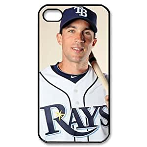 MLB iPhone 4,4S White Tampa Bay Devil Rays cell phone cases&Gift Holiday&Christmas Gifts NADL7B8824249
