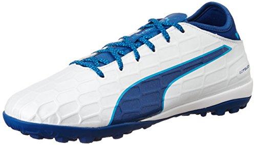 Puma Evotouch 3 TT, Botas de Fútbol Para Hombre, Blanco White-true Blue-Blue Danube 02, 46.5 EU