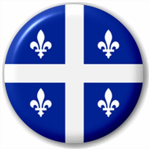 Quebec City Flag Lapel Pin Badge Canada