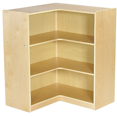 Corner Storage Furniture (ECR4Kids Birch Corner Classroom Storage Cabinet with Casters, Natural, 36