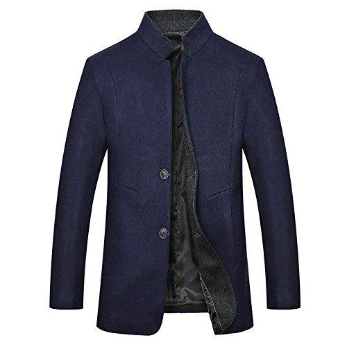 - Manteau de Laine Manteau Couleur de façon Occasionnelle dans Les col Long Manteau,Marine,XXL