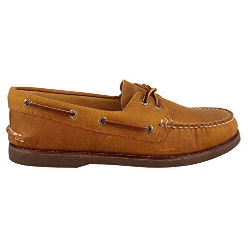 Sperry Top-Sider Men's Gold A/O 2-Eye Moc Toe Boat Shoe,Tan/Gum Full Grain Leath ()