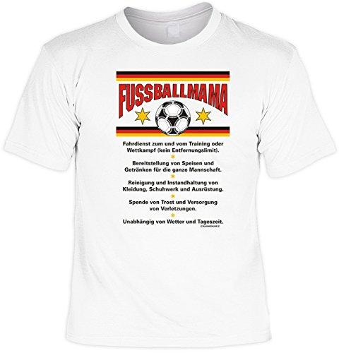 T-Shirt mit Urkunde - Fussballmama - lustiges Sprüche Shirt als Geschenk zum Muttertag für Mütter mit Humor - NEU mit gratis Zertifikat!