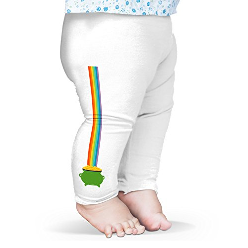 Twisted Envy Baby Pot of Gold at the End of the Rainbow Leggings Trousers 6-12 Months White
