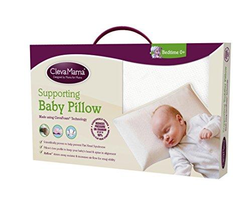 Clevamama Clevafoam Baby Pillow Cream Bedroom Store