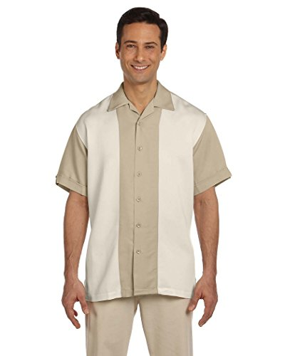 Harriton Men's Two-Tone Bahama Cord Camp Shirt-3XL ()