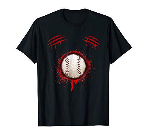 Zombie Baseball Player T-shirt Halloween Costume -
