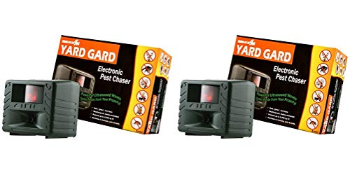 Bird-X Yard Gard Electronic Animal Repeller Keeps unwanted pests Out of Your Yard with ultrasonic Sound-Waves (Pack of 2) -
