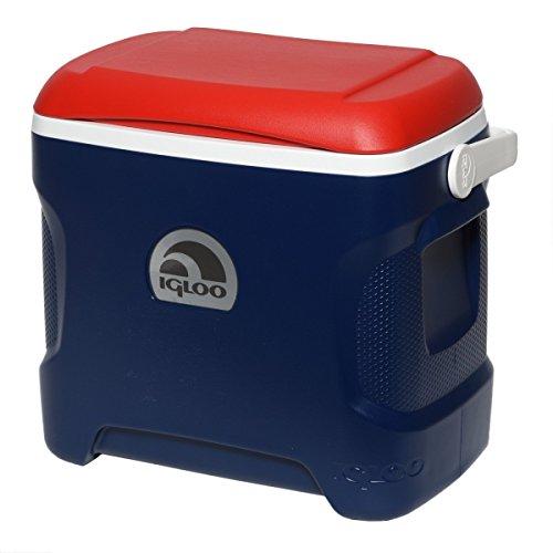 Blue Igloo (Igloo 44208 Contour Cooler, 30 quart, Patriotic-Red/White/Blue)