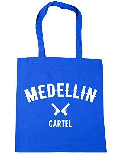 HippoWarehouse Medellin Cartel Pablo Escobar Tote Compras Bolsa de playa 42cm x38cm, 10litros Azul Aciano