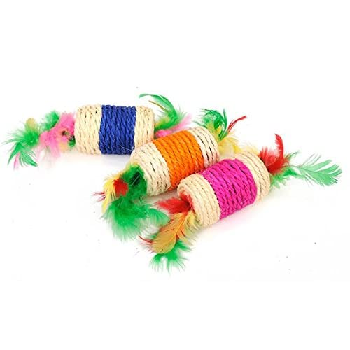 70%OFF Fully 2er/Set Sisal Rope Cat Scratch Board Scratching Pad Chew Toy Play Funny Candy Fish with string Teethcleaning