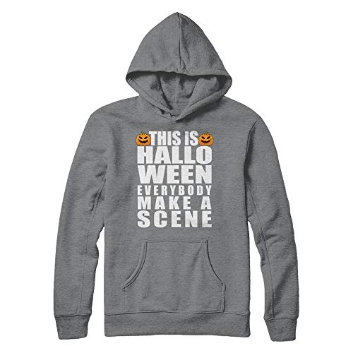 This is Halloween Everybody Make A Scene Costume Funny Pumpkin Face Gildan - Pullover Hoodie Sport Grey 4XL