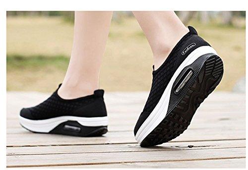 Bottom Shoes Out Ups unyielding1 Rocker Sneakers Shoes Platform Shape Walking Women's Black Work yqw00BZaX