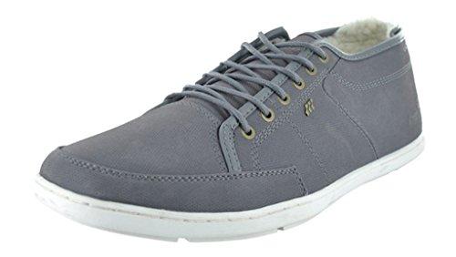 Boxfresh Sparko Prem Grigio Bianco Uomo Pelle Fur Scarpe Sneaker