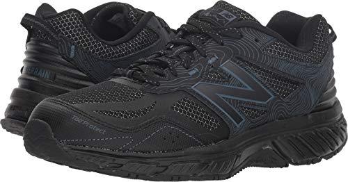 (New Balance Women's 510v4 Cushioning Trail Running Shoe, Black/Thunder, 10 B US)