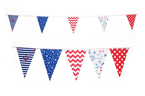 Nautical Sailing Themed Pennant Lake Party Flags by