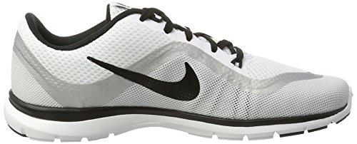 mtlc white Fitness 6 Nike Blanc Trainer black Chaussures Flex Femme Platinum De B8wUvnx