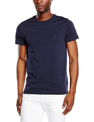 Tommy Hilfiger, T-Shirt kurz, Herren, LIGHT WEIGHT C-NK, Dunkelblau