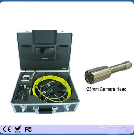 Kohstar hot sale portable classic model 40m cable 7 inch monitor sewer drain video inspection camera with DVR function