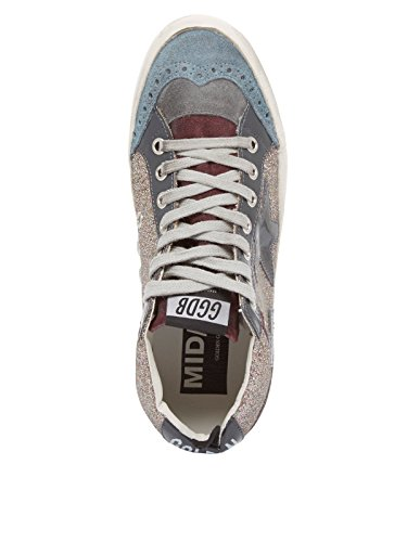 Gouden Gans Schuhe Damen Sneaker Hoge Top G31ws634.g4 Grau Grijs Vrouwen