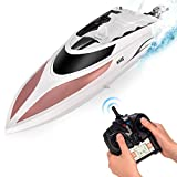 RC Boat - Remote Control Boat for Kids and Adults - 20+ MPH Speed - Durable Structure - Innovative Features - Incredible Waves - Pool or Lake - 4 Channel Racing - 2.4 GHz Remote Control - H102 Model