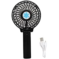 LOUSHI Portable Handheld Mini Air Conditioner Cooler Fan USB Battery BK