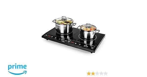 oneConcept Chefzone - Placa de inducción doble , Apta para ...