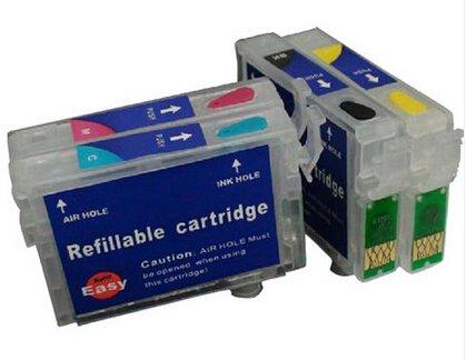 Para Epson t1251 t1252 t1253 t1254 recargables cartucho de tinta ...