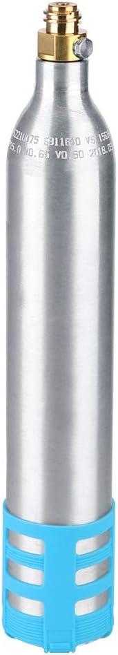 Fabricante de agua con gas,botella de carbonatador de soda de repuesto de cilindro de CO2 reutilizable recargable de 0,6 l para todas las máquinas de soda,hacer agua con gas casera,jugo,café(1#)